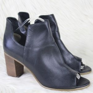 Steve Madden Nello Peep Toe Cut Out Ankle Booties